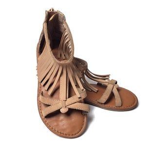 Gap Toddler Girls Fringe Sandals Size 11